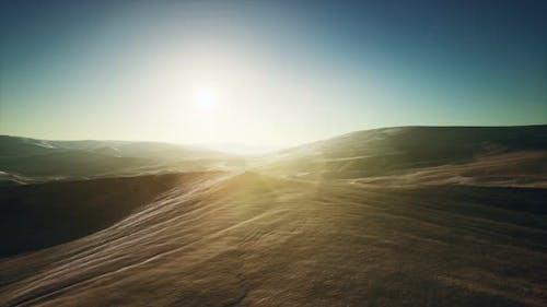 Beautiful Sand Dunes in the Sahara Desert