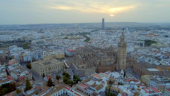 Thumbnail for Seville City From the Air and Cathedral