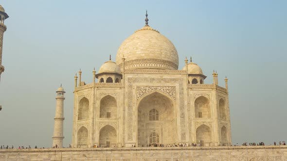 Famous Mausoleum Taj Mahal in Agra, India