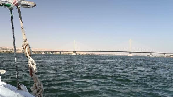 Thumbnail for New Aswan bridge over Nile river