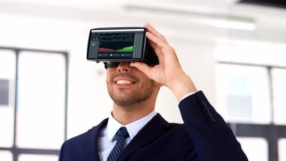 Thumbnail for Businessman with Virtual Reality Headset at Office 103
