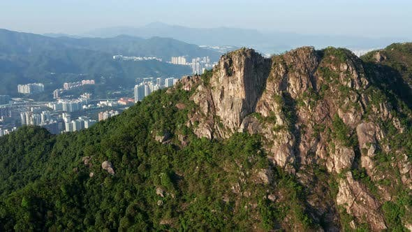 Thumbnail for Drone Fly Over Lion Rock Mountain