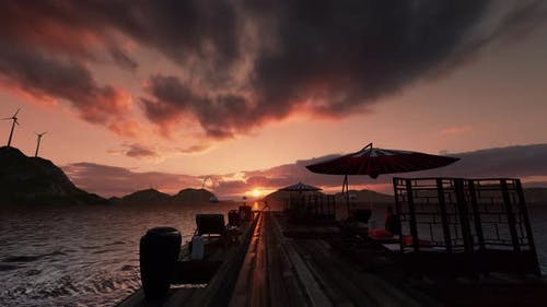 Yoga Girl, Beach and Sunset