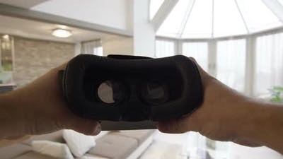 Putting on VR Glasses