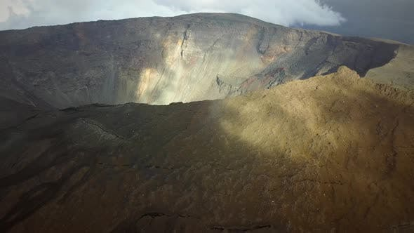 Thumbnail for Aerial view of Piton de la Fournaise on Reunion island.