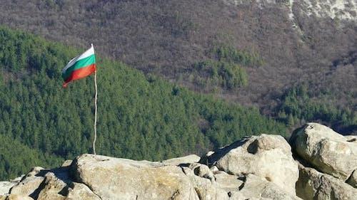 The Bulgarian Flag On Top Of Rocks 1