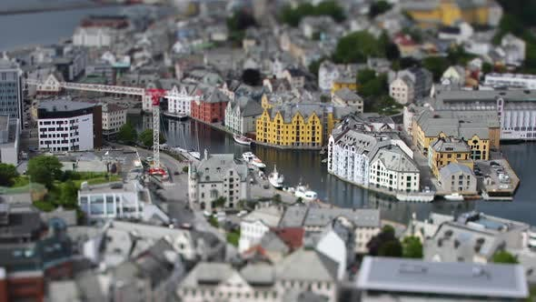 Thumbnail for Aksla at the City of Alesund Tilt Shift Lens Norway