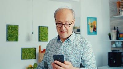 Grandfather Enjoying Music