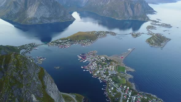 Thumbnail for Lofoten Islands and Beach Aerial View in Norway