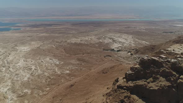 Thumbnail for Masada and the Dead Sea from above