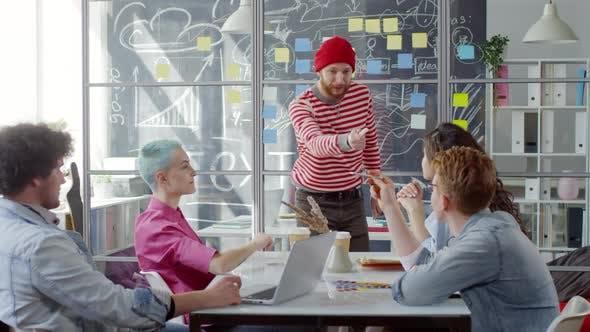 Thumbnail for Caucasian Man Giving Masterclass on Creativity