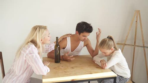 Drunk Man Bring Only Troubles To Family
