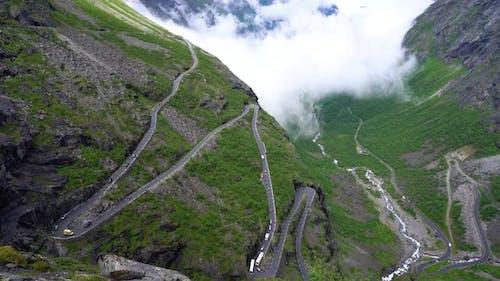 Trolls Path Trollstigen or Trollstigveien Winding Mountain Road