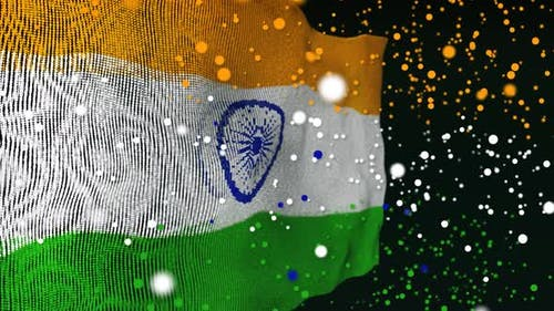 Indian Flag Particle Animation