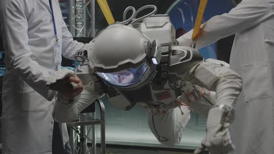 Thumbnail for Scientists and Astronaut Testing Zero-gravity Conditions