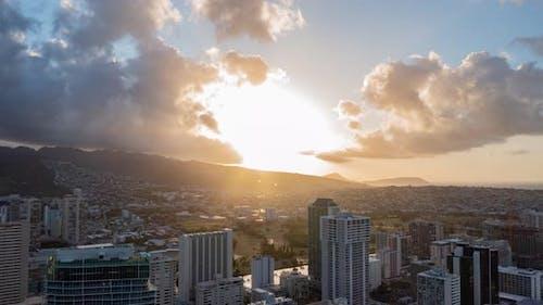 Sunrise in Honolulu Oahu Hawaii