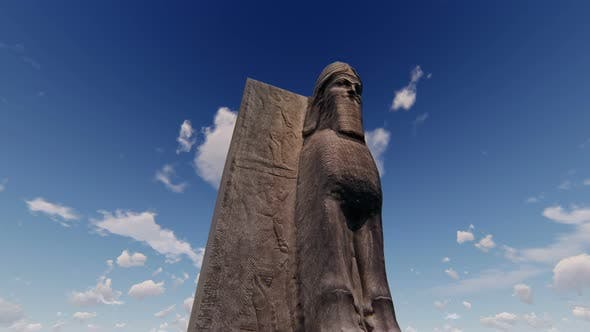 Thumbnail for 4K Ancient Sumerian Statue