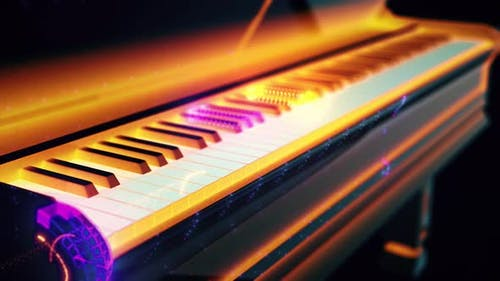 Piano And Abstract Piano Keys 4k