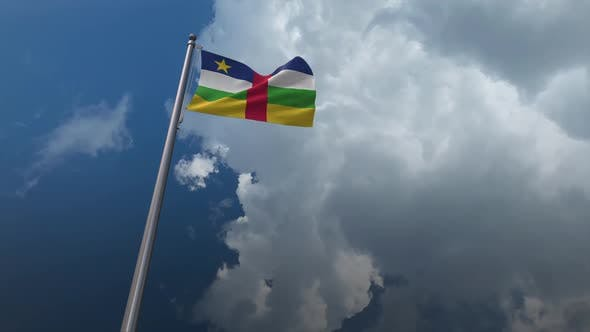 Central African Republic Flag Waving 2K