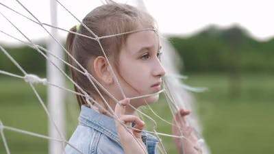 Sad Depressed Girl Feels Lonely