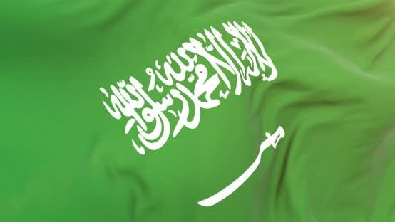 Thumbnail for Realistic Arabia Flag Close Up 4K Loop