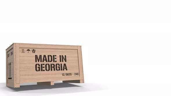 Thumbnail for Wooden Crate with Printed MADE IN GEORGIA Text