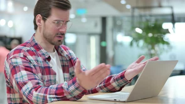 Thumbnail for Loss, Male Designer Reacting To Failure on Laptop
