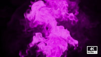 Realistic Pink Smoke Rising