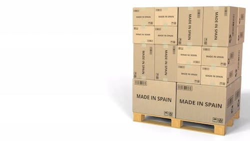 Boxes with MADE IN SPAIN Caption