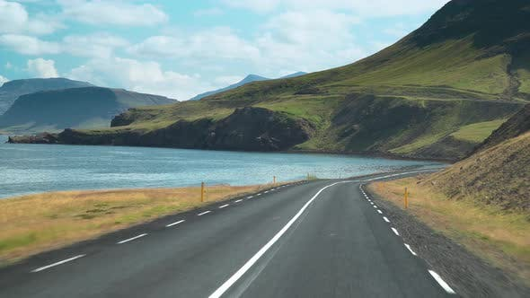 Thumbnail for Car Driving on the Road To Iceland