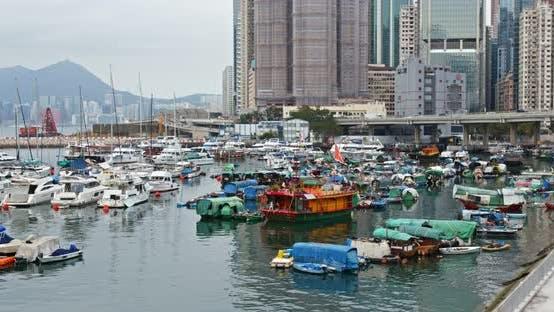 Thumbnail for Hong Kong harbor, Causeway Bay typhoon shelter