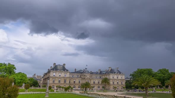 Clouds over the Luxembourg Garden