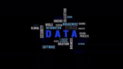 Word Cloud Alpha Data Blue Side