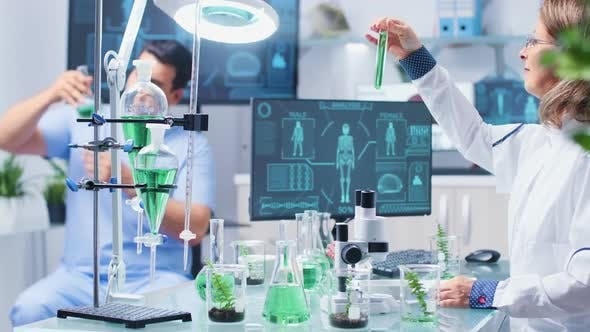 Thumbnail for In Busy Biochemistry Laboratory Scientist Are Working