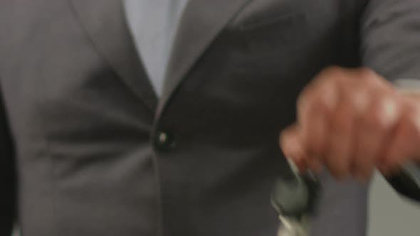 Thumbnail for Successful Businessman Showing Car Keys Into Camera Automobile Purchase