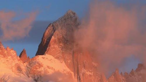 Mount Fitz Roy at Dawn. Argentina, Patagonia.