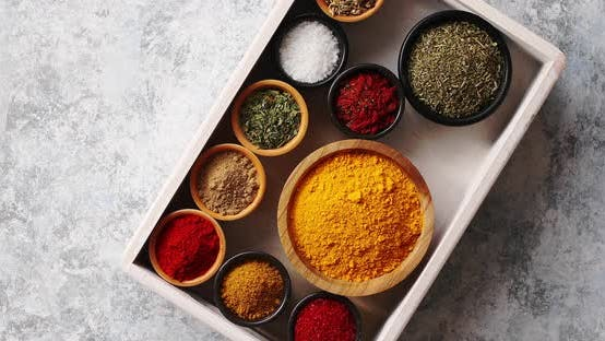 Thumbnail for Arrangement of Spices in Tray
