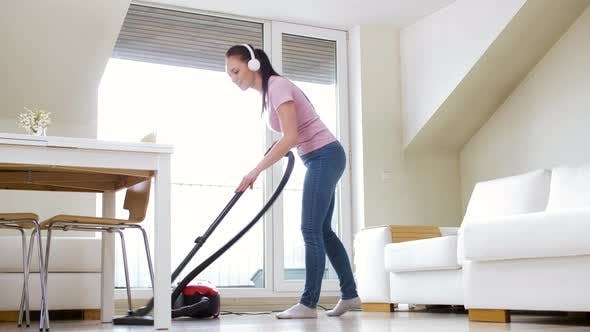 Thumbnail for Woman or Housewife with Vacuum Cleaner at Home 22
