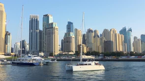 Thumbnail for Catamaran Sails in Canal