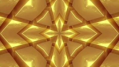 Symmetrical Gold Bars. Looped