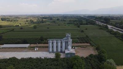 Farm Wheat Silo