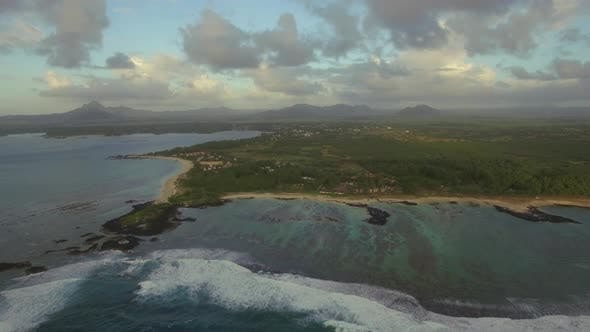 Thumbnail for Flying Over Mauritius Island and Shoal Waters