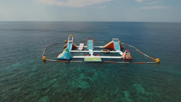 Thumbnail for Inflatable Water Park in the Sea. Bali,Indonesia