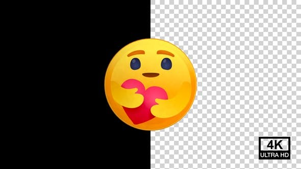 Care Facebook Reaction Emoji 4K