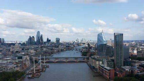 Backwards Fly Above Thames River