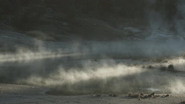 Thumbnail for Steaming water in Yellowstone National Park