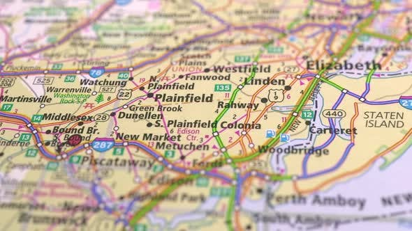 Thumbnail for Map Highways With Cities America State New York City.