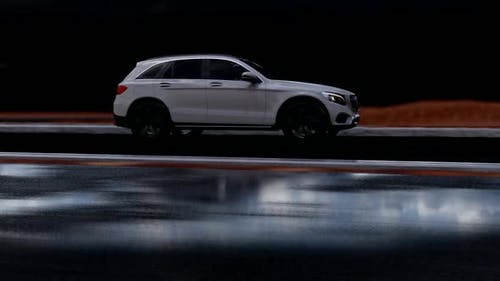 Fast Outgoing White SUV