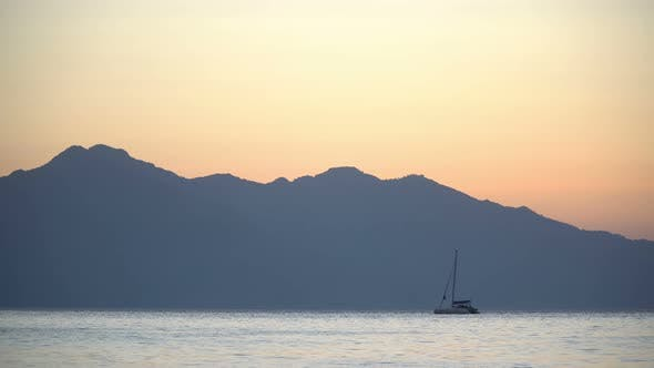 Thumbnail for Yachts In The Bay On The Background Of The Taurus Mountains