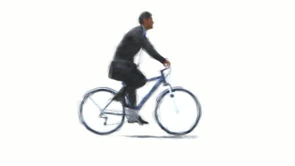 Thumbnail for Man Riding A Bike Stop Motion